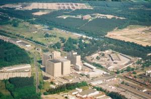 Luftbild des Kraftfuttermischwerkes Eberswalde