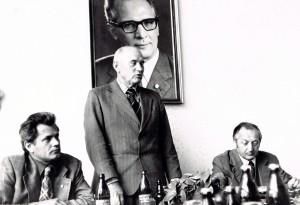 SZME - Besuch eines sowjetischen Vize-Landwirtschaftsministers - hier mit H. Schneider und Prof. Koriath am 16.09.1977