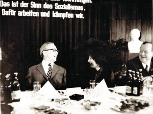 SZME - Erich Honnecker im angeregten Gespräch