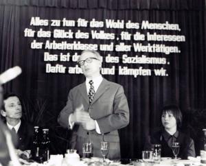SZME - Erich Honnecker hält Ansprache